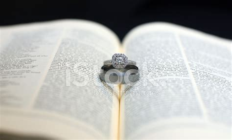 Wedding Rings On Bible by Wedding Rings On Holy Bible Stock Photos Freeimages