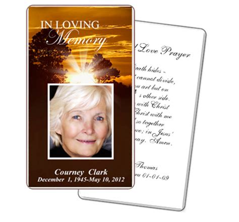 memorial cards templates 5 best images of free printable funeral prayer cards