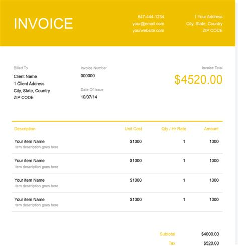 trucking invoice ricdesign