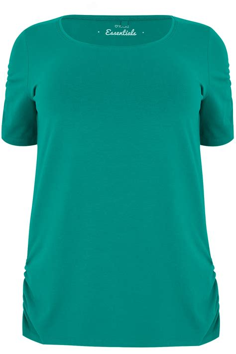 Tas Wanita My Medium I Feel Blue Astronomy Af6333 jade green t shirt with ruched sleeves plus size 16 to 32