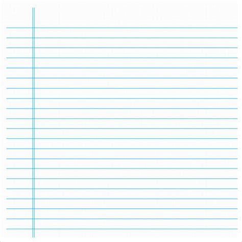 notebook paper template for word notebook paper 9 documents in pdf