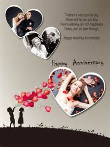 anniversary collage card add on templates free