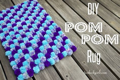 how to make a yarn pom pom rug 20 diy yarn projects for this winter pretty designs