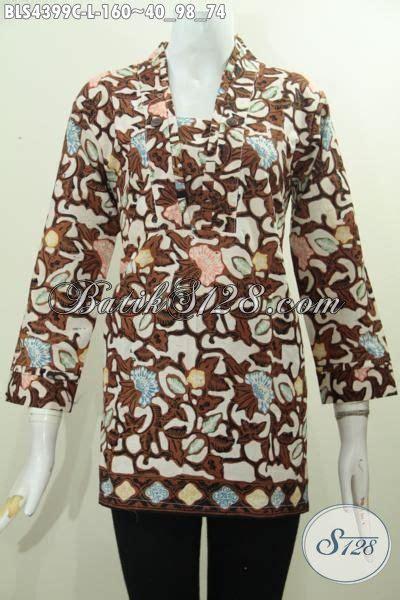 Pakaian Wanita Blus Batik Astri Motif 4 di jual pakaian batik modis untuk wanita dewasa