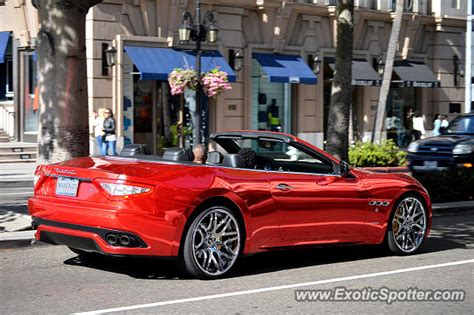 Maserati Beverly by Maserati Grancabrio Spotted In Beverly California