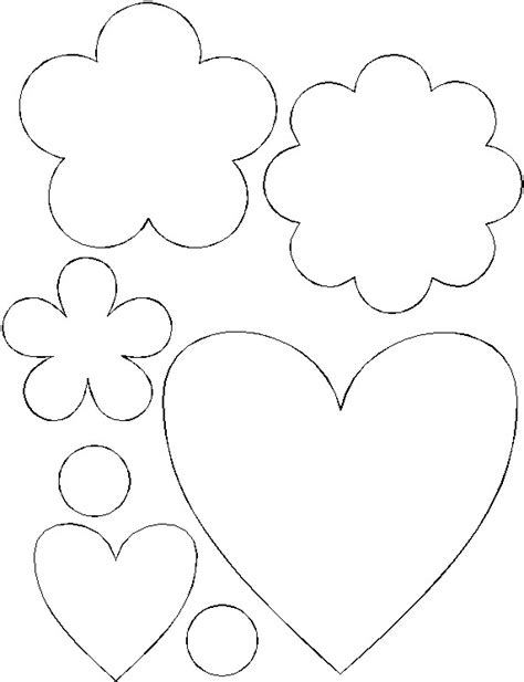 printable hearts and flowers printable paper hearts and flowers bouquet