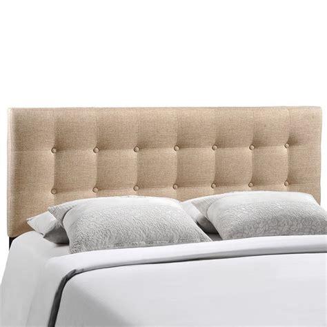 beige upholstered headboard modway emily upholstered king panel headboard in beige