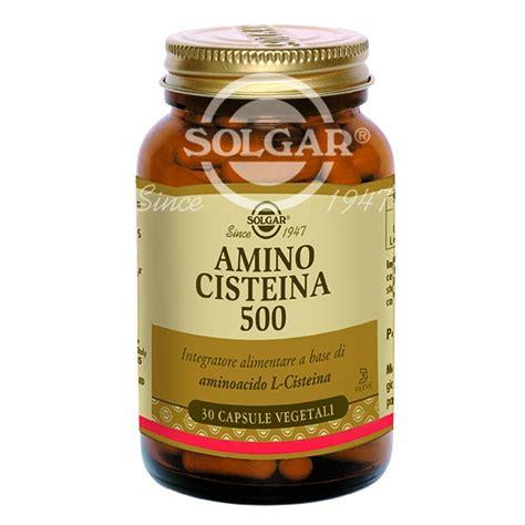 cisteina alimenti solgar amino cisteina 500 30 capsule