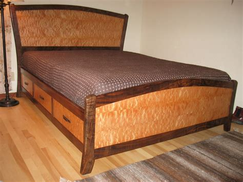 storage beds queen size with drawers handmade queen size bed with storage drawers by stark