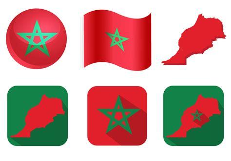 morroccan l morocco flag vectors download free vector art stock