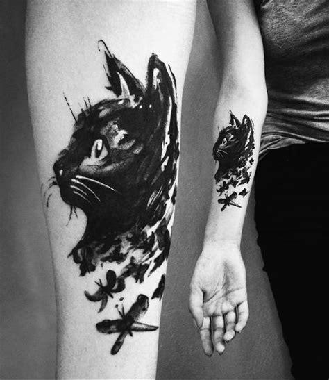 inspiring cat tattoos designs  ideas  cat lovers
