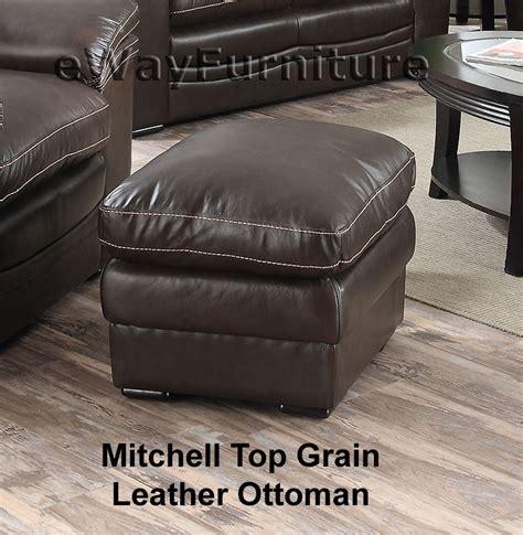 top grain leather ottoman mitchell top grain leather ottoman li1406 ot
