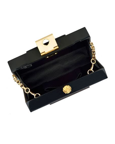 rafe lucite clutch bag brown black