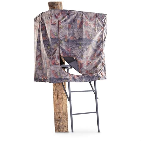 tree stand covers guide gear universal tree stand blind 173861