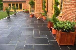 blue black slate paving patio kit nustone