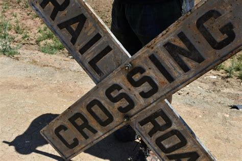 Railroad Crossing L Base by Metal Railroad Crossing Sign