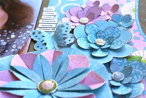 tutorial paper flowers scrapbooking flowers challenge 6 my minds eye paper flowers flower
