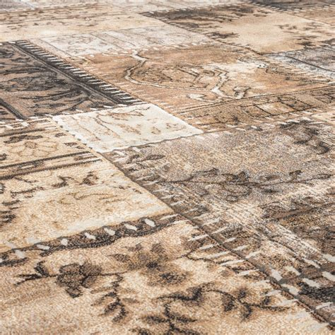 Teppiche In Braun by Edler Designer Teppich Vintage Patchwork Muster Edition In
