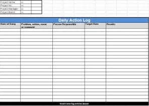 Log Template by Log Templates Free Day To Day Log Templates