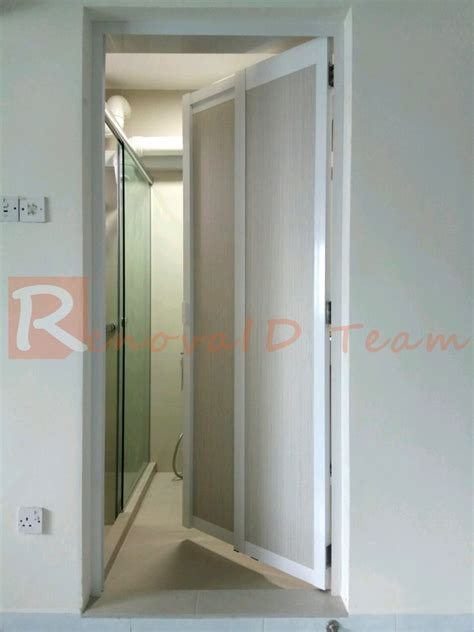 swing and slide door slide and swing toilet door promotion for hdb bto flat at