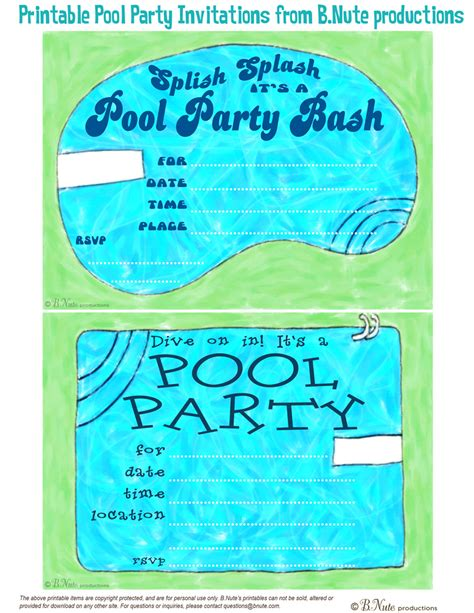 invitations simple pool invitaions template design pool invitation