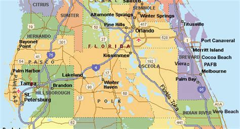 of central florida map central florida map showing cities deboomfotografie
