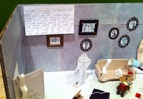 Slippers Book Report by Diary Of A Wimpy Kid Diorama Diorama