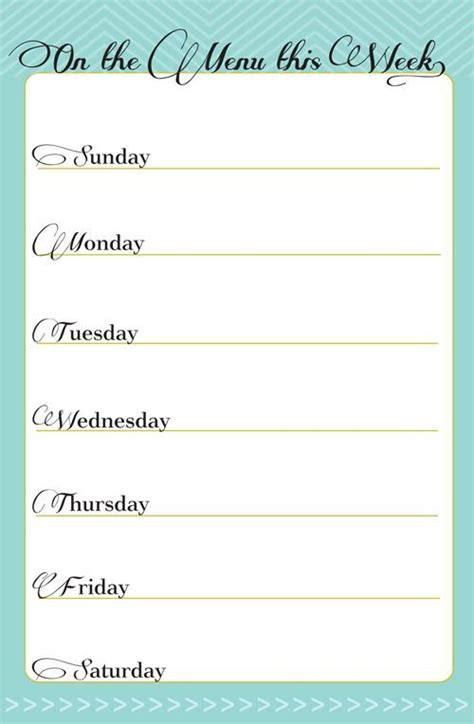 pinterest printable meal planner in honor of design free printable weekly meal planner