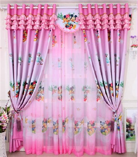 minnie mouse curtains pink aliexpress com buy home window decoration cartoon