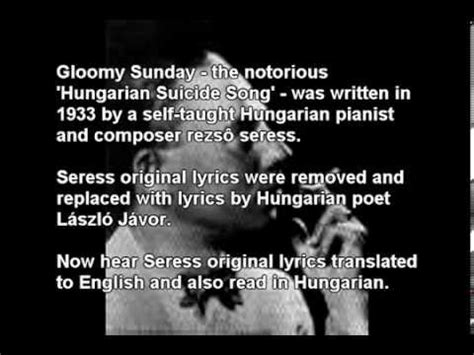 gloomy sunday original piano version rezs seress gloomy sunday lyrics buzzpls com