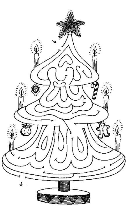 printable christmas tree maze maze christmas tree familycorner com 174