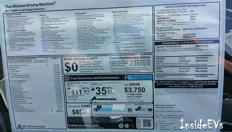Bmw I3 Sticker by 2017 Bmw I3 Rex 94 Ah Arrives In Us At 97