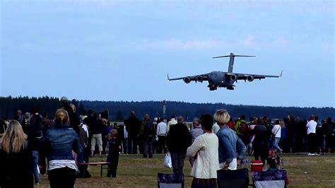 scow landing boeing c 17 globemaster iii landing at the nordic air
