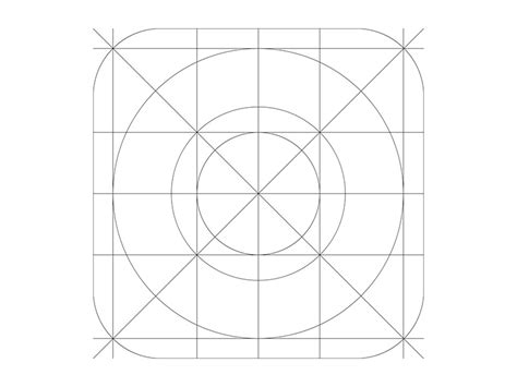 layout grid ios ios7 icon grid template by matthew reilly dribbble