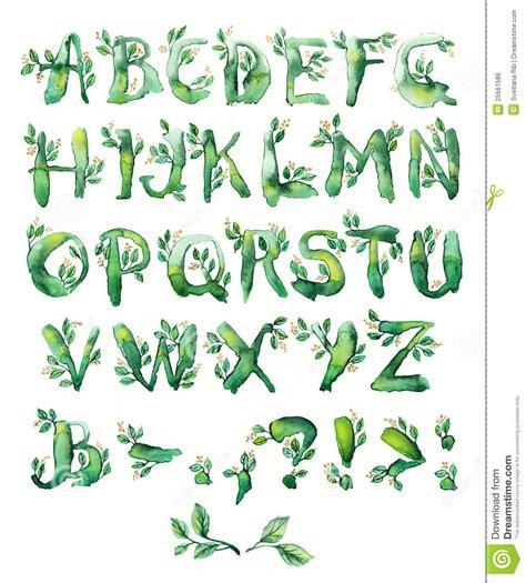 printable leaves with letters bay leaf set of letters stock illustration illustration