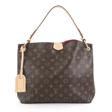 louis vuitton graceful monogram pivoine canvas hobo bag