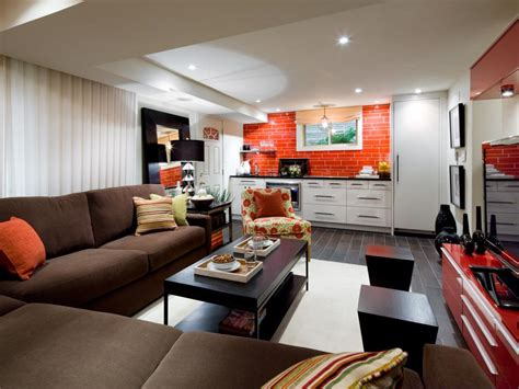 basement living room ideas lounge worthy basements hgtv