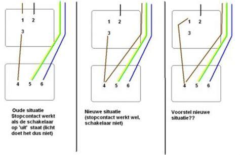 l direct op stopcontact aan en uit schakelaar incl geaard stopcontact aansluiten