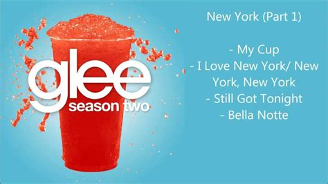new year song compilation glee new york songs compilation part 1 season 2