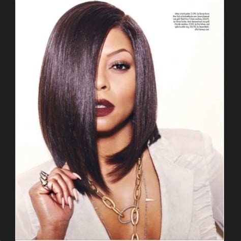 black hairstyles for miami taraji p henson is slaying this bob cut hair u r