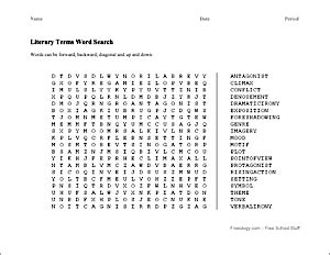 printable word search literary terms literary terms word search freeology