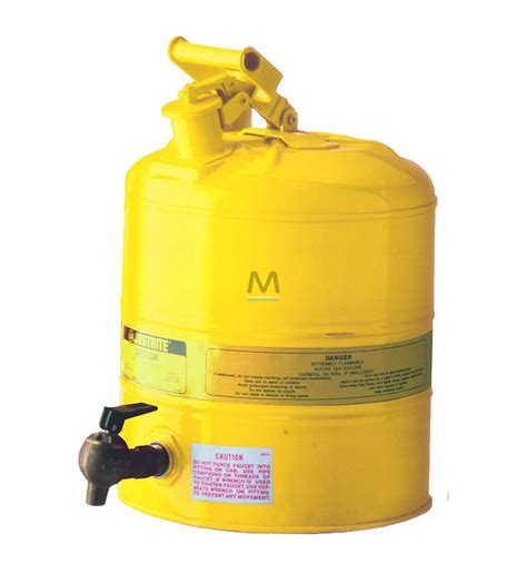 contenitori con rubinetto justrite contenitore di sicurezza con rubinetto 19 lt