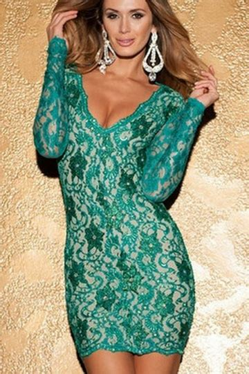 Lace Blazer Import Green Hasio green v neck lace sleeve backless clubwear