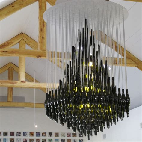 Chandelier Made From Wine Bottles 1000 Images About Wine Bottle Glass Chandeliers On Bar Recycled Wine Bottles And