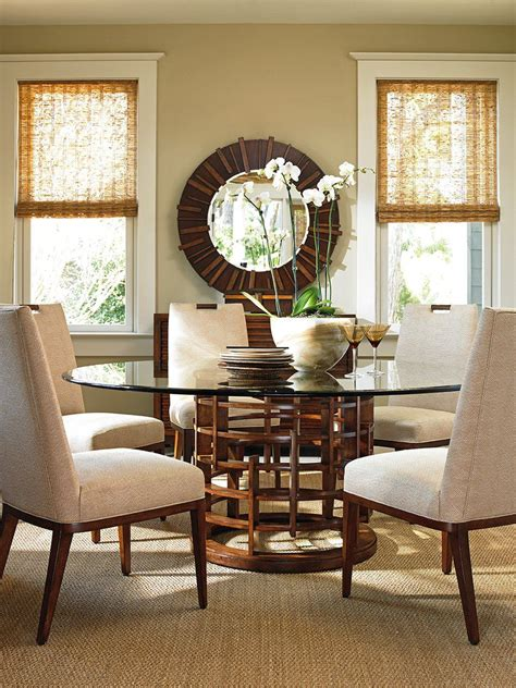 Bahama Dining Room Sets by Bahama Home Island Fusion 7 Glass Top