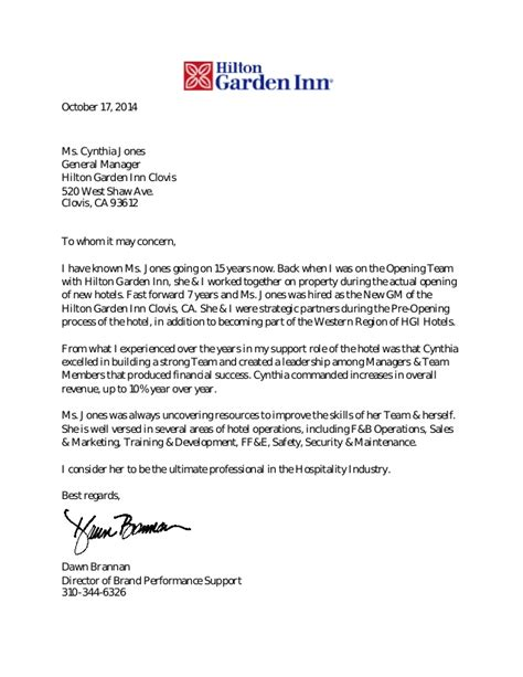 Reference Letter Hospitality cynthia jones recommendation letter doc