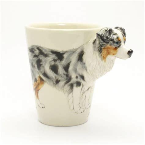 Handmade Australian Gifts - blue merle australian shepherd ceramic mug lover