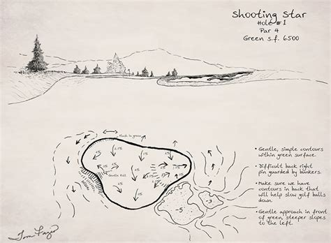 Sketches H by Shooting Golf Course Sketches By Tom Fazio Pre