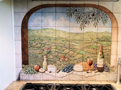 Quot Portuguese Vista Solberg Vineyards Quot Decorative Kitchen Tile Murals For Kitchen