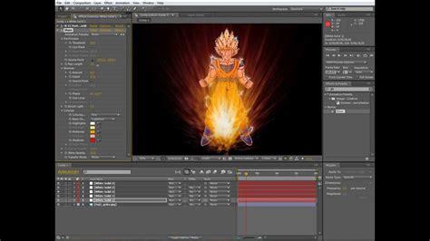 tutorial after effects aura dragon ball aura tutorial after effects youtube
